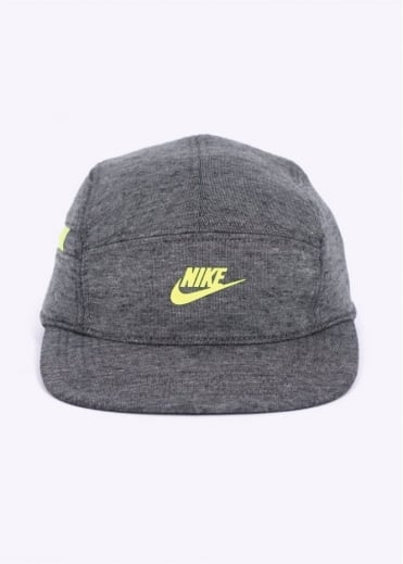 Nike Accessories AW84 5 Panel Tech Pack Cap - Grey / Volt