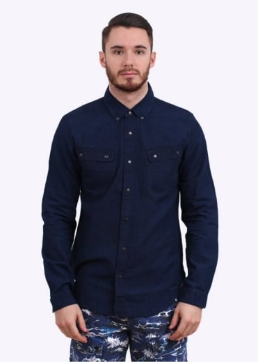 Barbour x White Mountaineering Mountain Shirt - Indigo