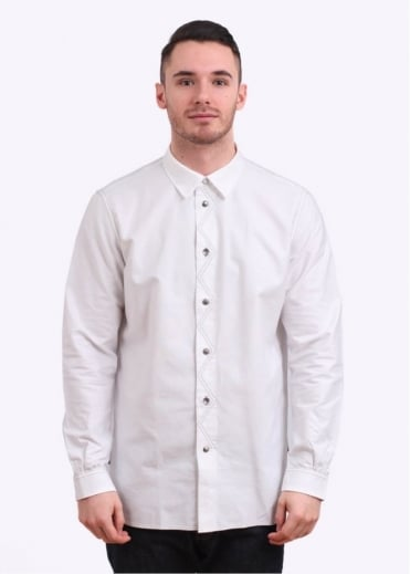 Paul Smith Red Ear Standard Fit Long Sleeve Shirt - White