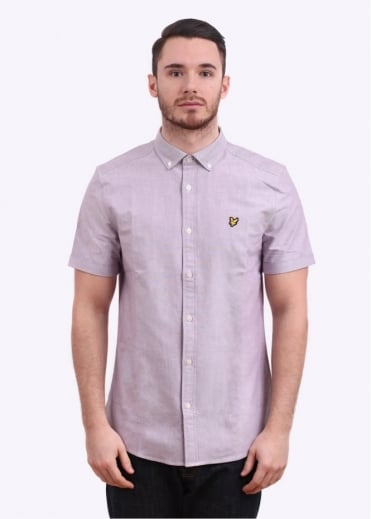 Lyle & Scott Vintage Short Sleeve Oxford Shirt - Blackcurrant