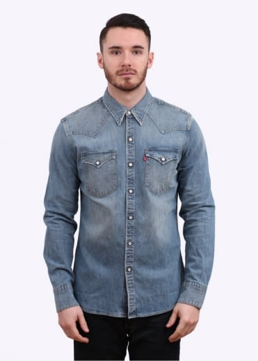 Levi's Red Tab Barstow Western Shirt - Worn Blue