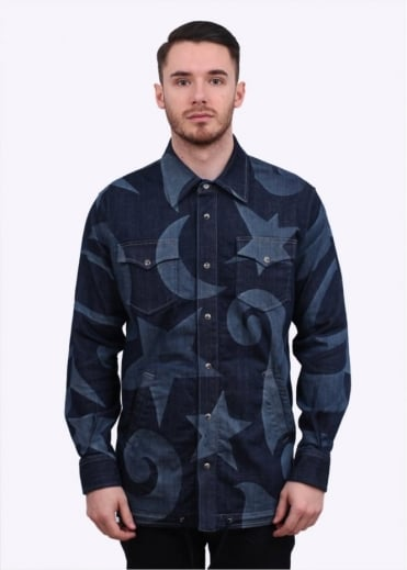 Vivienne Westwood Anglomania Mens Chore Denim Over Shirt - Blue