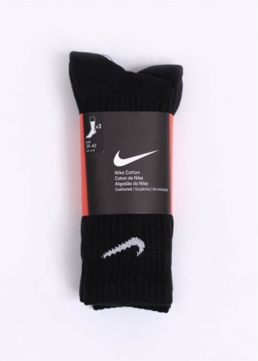 Nike Accessories Cotton Socks (3 Pack) - Black