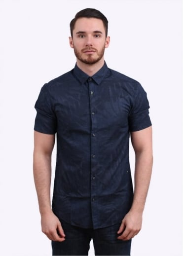 Hugo Boss Green Byagino Shirt - Navy