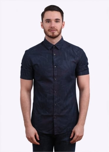 Hugo Boss Green Byagino Shirt - Navy/Pink