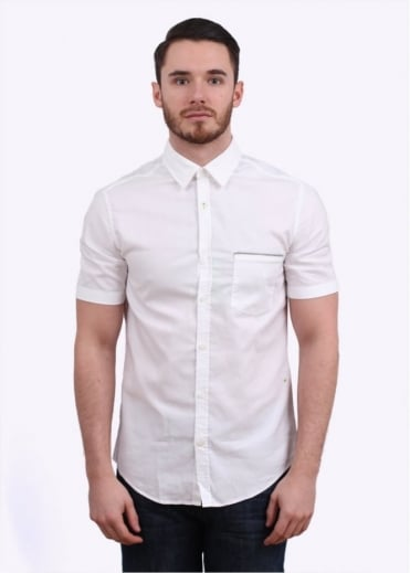 Hugo Boss Green Byolo Shirt - White