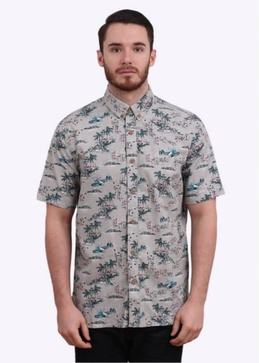 Penfield Oyen SS Tropical Shirt - Grey