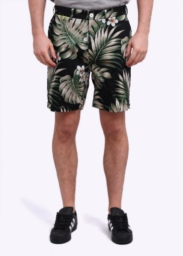 Penfield Grafton Floral Shorts - Black Palm