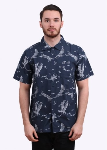 Obey Death Touch Woven Shirt - Blue