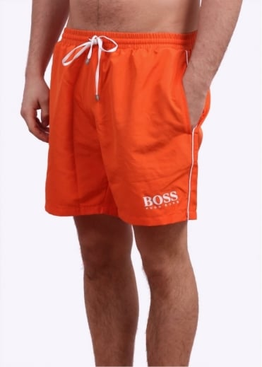 Hugo Boss Black Starfish Swim Shorts - Medium Orange