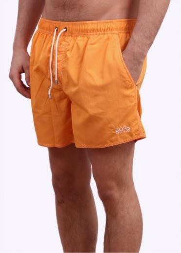 Hugo Boss Accessories Lobster Swim Shorts - Dark Yellow