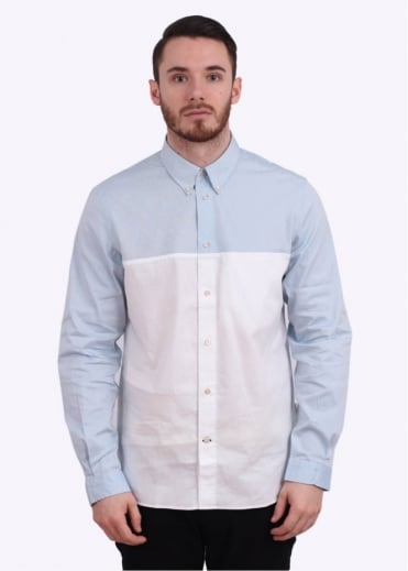 Paul Smith Long Sleeve Classic Shirt - Light Blue / White