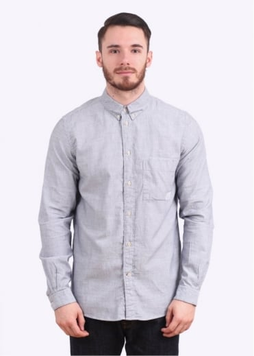 Paul Smith Jeans Long Sleeve Pattern Shirt - Navy