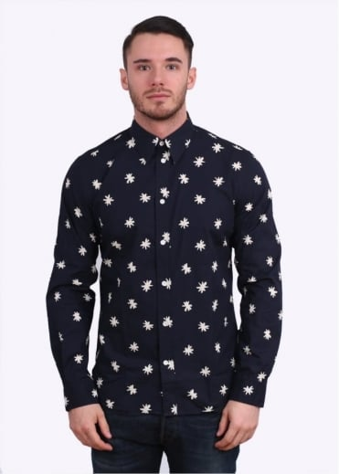 Paul Smith Jeans Long Sleeve Asterisk Shirt - Navy