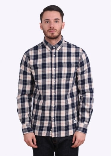 Penfield Pearsons Flannel Shirt - Navy