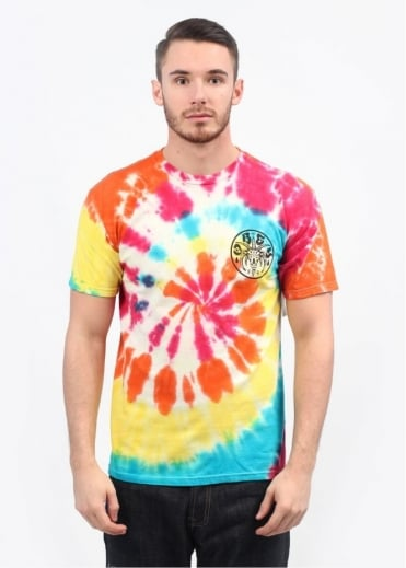 Obey The Eternal Spiral T-Shirt - Rainbow