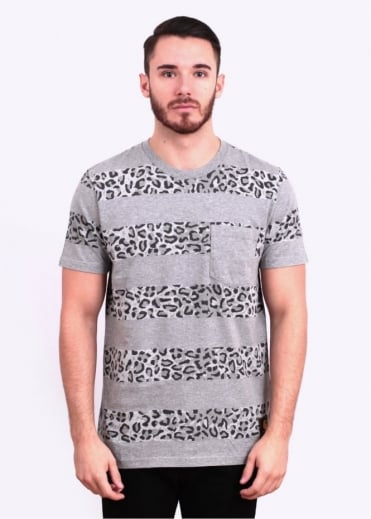Carhartt Short Sleeve Leopard Tee - Grey / Black