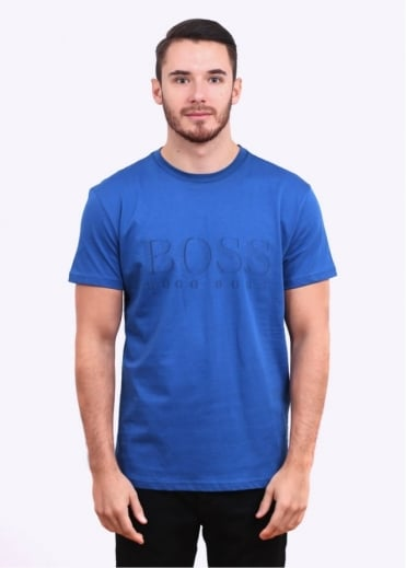 Hugo Boss Accessories Short Sleeve T-Shirt - Medium Blue