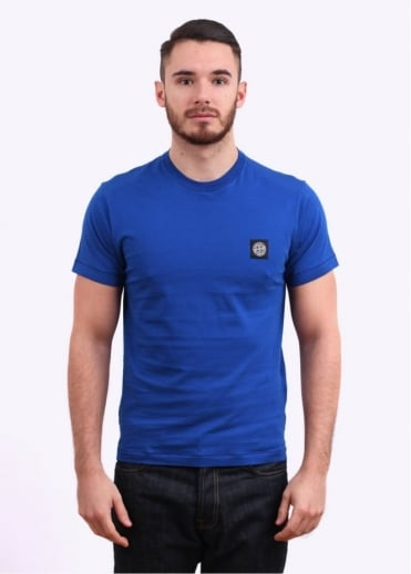 Stone Island Badge Tee - Blue