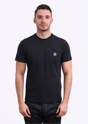 Stone Island Small Logo Patch Tee - Black