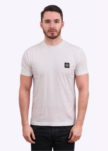 Stone Island Logo Patch Tee - White
