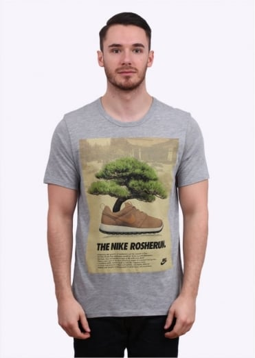 Nike Apparel Rosherun Bonsai Shoe Tee - Grey