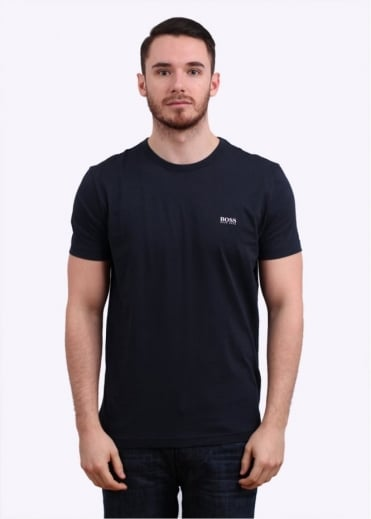 Hugo Boss Green Logo Tee - Navy