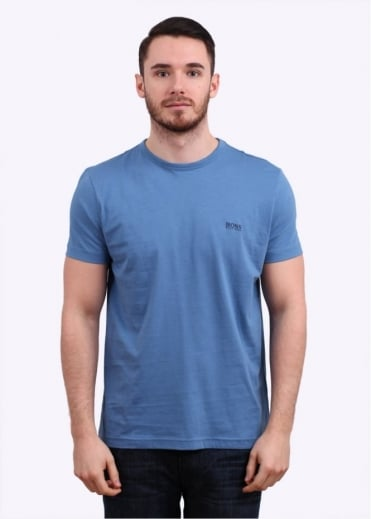 Hugo Boss Green Logo Tee - Open Blue