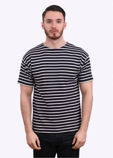 Armor Lux Doelan SS Sailor Stripe Tee - Navy / Nature