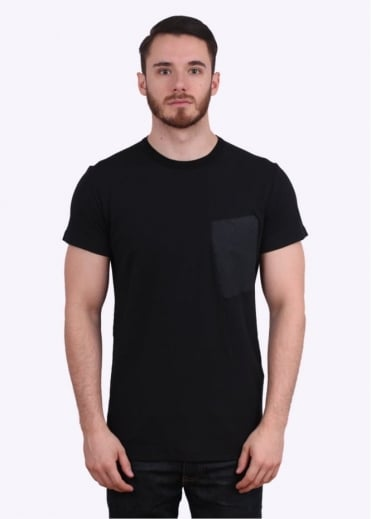 Stone Island Shadow Project Interlock Mako Catch Pocket Tee - Black