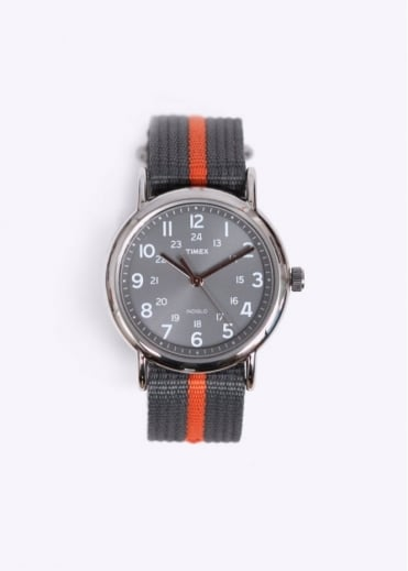 Timex Weekender Slip Thru Watch - Grey / Orange