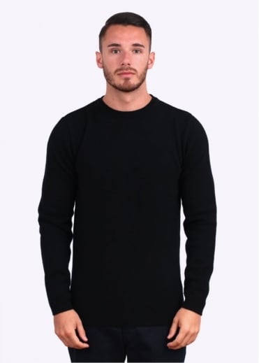 Norse Projects Sigfred Lambswool Jumper - Black