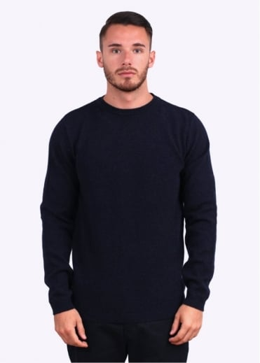 Norse Projects Sigfred Lambswool Jumper - Dark Navy