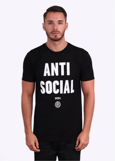 Obey Anti-Social Media Tee - Black