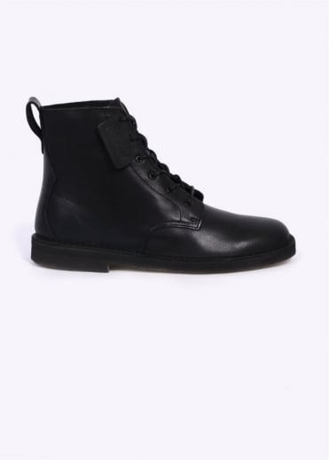 Clarks Originals Desert Mali Boots - Black Leather