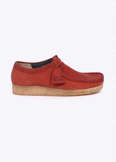 Clarks Originals Wallabee Shoes - Rust Leather