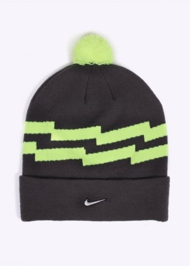 Nike Accessories Pom Beanie - Grey / Volt