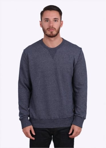 Obey Arlington Crew Sweater - Heather Indigo