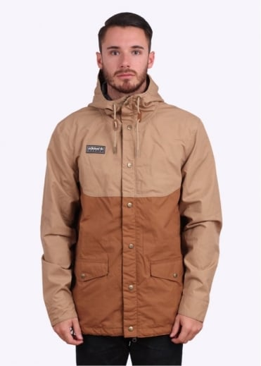 Adidas Originals Spezial ETA Anoraak Hooded Jacket - Hemp / Timber