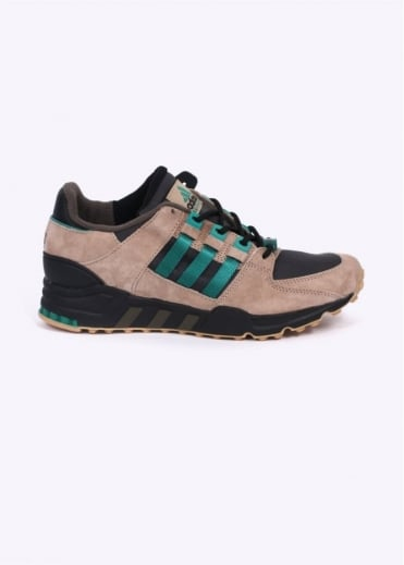 Adidas Originals Footwear EQT Equipment Running Support 93 Trainers - Core Black / Sub Green / Hemp