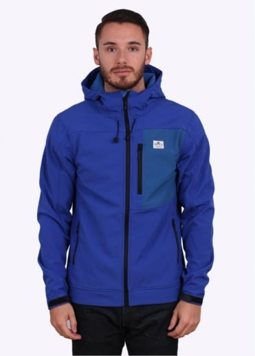 Penfield Swift Hooded Soft Shell Jacket - Cobalt Blue