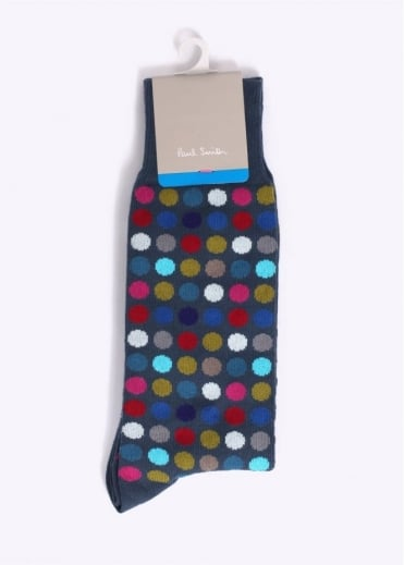 Paul Smith Accessories Polka Dot Socks - Grey