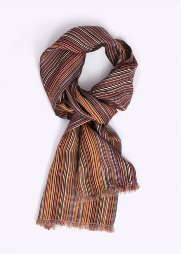 Paul Smith Accessories Woolsilk Stripe Scarf - Multi-Colour