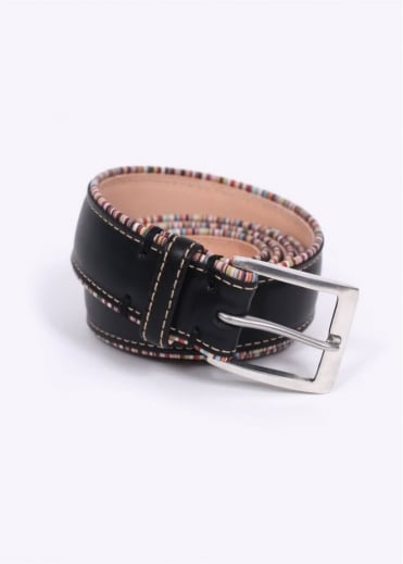 Paul Smith Accessories Pipe Leather Belt - Black
