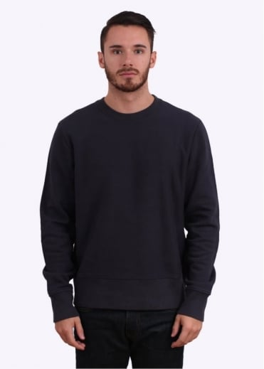 Paul Smith Red Ear Detail Crew Sweater - Navy Blue