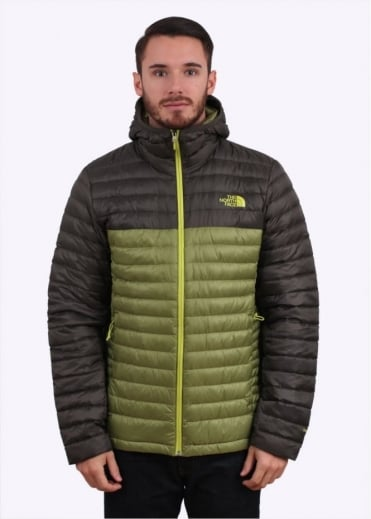 North Face Tonnerro Hooded Down Jacket - Grip Green / Black Ink Green