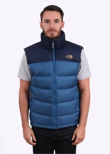 North Face Nuptse 2 Down Vest - Dish Blue