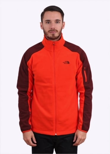 North Face Glacier Delta Fleece - Acrylic Orange / Sequoia Red