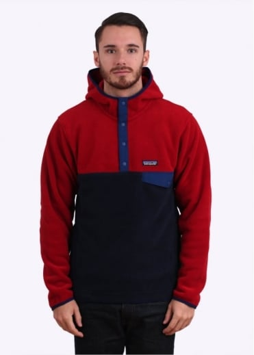 Patagonia Synchilla Snap-T Fleece Hoodie - Navy Blue