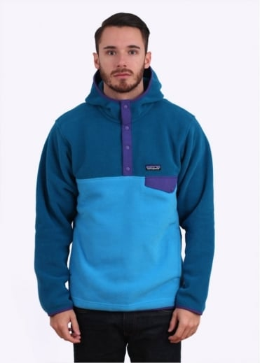 Patagonia Synchilla Snap-T Fleece Hoodie - Electron Blue